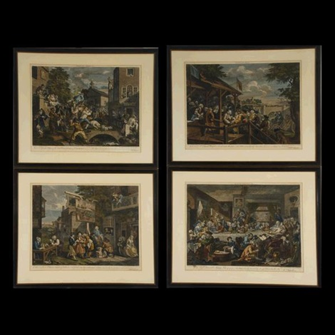 election series (4 works) by william hogarth