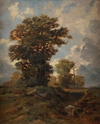 les chênes, forêt de fontainebleau by auguste paul charles anastasi