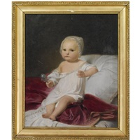 a portrait of the later franz v of modena as an infant by austrian school-vienna (19)