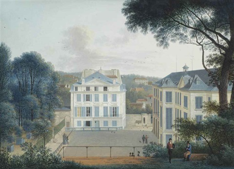 Maison de Buffon in the Jardin de Plantes, Paris by Joseph Augustus ...
