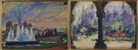 exposition de l'eau (+ cour du palais des princes-evêques, 1928; 2 works) by marcel de lince