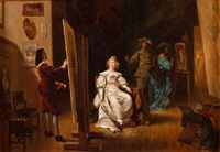 malarz i modelka by ladislaus bakalowicz