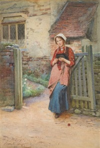 at the garden gate by carlton alfred smith