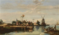 paysage de hollande by le poitevin