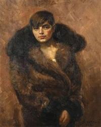 porträt einer dame (gattin des künstlers?) by svetislav vukovic