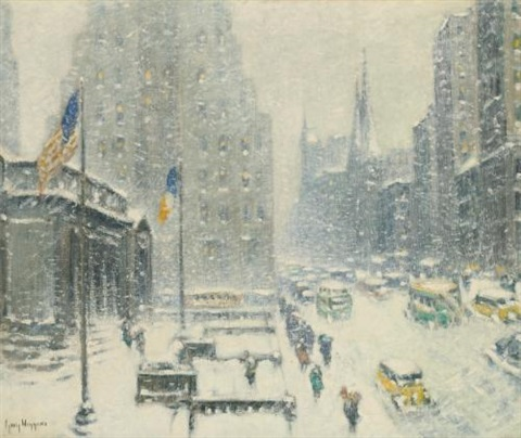 the public library, new york by guy carleton wiggins