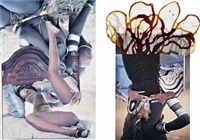 hamar couple (in 2 parts) by wangechi mutu