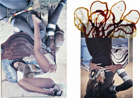 hamar couple in 2 parts by wangechi mutu