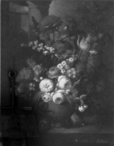 floral still life on a marble edge by francois gabriel