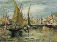 fishing boats (+ another; pair) by ermenegildo agazzi