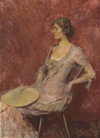 the palm leaf fan by thomas wilmer dewing