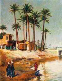 by the nile by franz kienmayer
