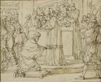 couronnement de charlemagne by louis-félix de la rue