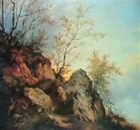 klippefyldt skraent med birke-traer by vinzenz kreuzer