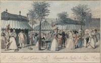 promenade du jardin du palais-royal (after claude-louis desrais) by louis le coeur