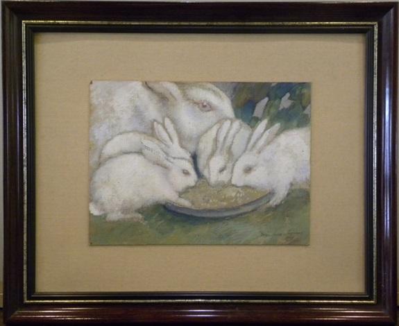 lapins by georges manzana pissarro