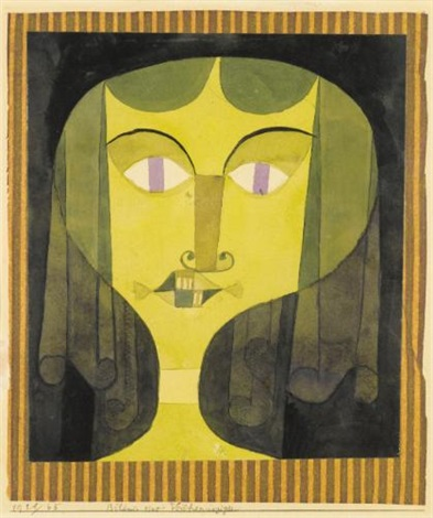 bildnis einer veilchenäugigen portrait of a violet eyed woman by paul klee