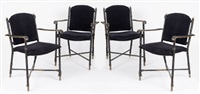 exceptionnel suite de quatre fauteuils (set of 4) by jacques adnet