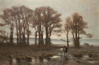 paysage d'hiver by jan willem van borselen
