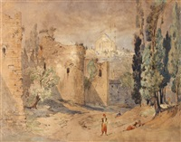 les fortifications de constantinople et sainte sophie by jules (joseph augustin) laurens