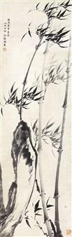 竹石图 立轴 水墨纸本 by jiang jingguo