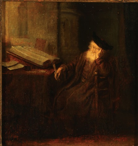 a philosopher in his study by salomon koninck