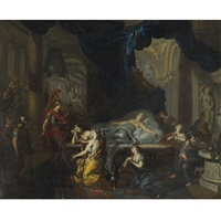 death of cleopatra by ottmar elliger the elder