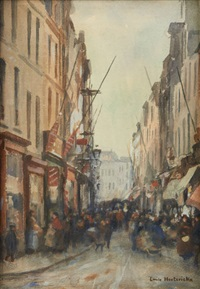 rue de flandres by emile hoeterickx