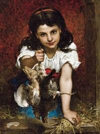 la jeune vendeuse de poules by pierre louis de coninck