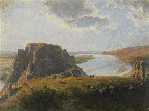 a landscape with devin by heinrich tomec