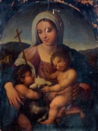 vierge à l'enfant et saint jean-baptiste by giovanni francesco penni