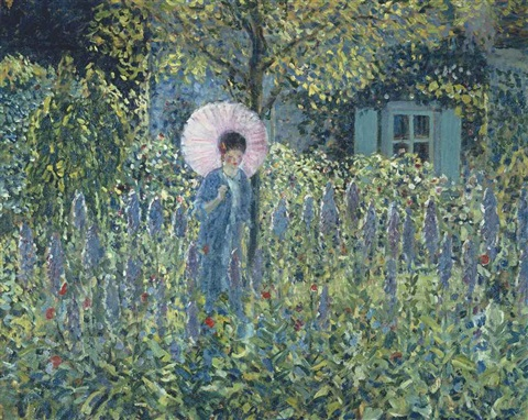foxgloves by frederick carl frieseke