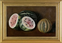 still life with watermelons by annie campbell