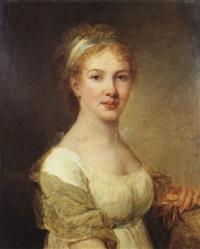 portrait d'une femme peintre (autoportrait?) by marie-victoire lemoine