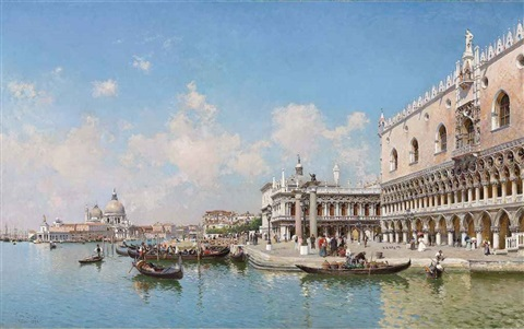 the doges palace and santa maria della salute by federico del campo