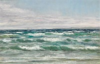 the sea off the coast of hornbæk by carl ludvig thilson locher