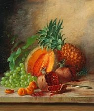 still life with tropical fruits by alfrida baadsgaard