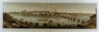 panorama de basle, prise du café du pont by rudolf huber