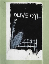 untitled (olive oyl) by jean-michel basquiat