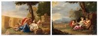 la famille du satyre ou le printemps (+ satyre et figure de cérès, groupe d'enfants jouant ou l'été; 2 works) by nicolas perelle