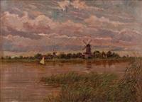kralinger see bei rotterdam (holland) by albin müller-rundegg