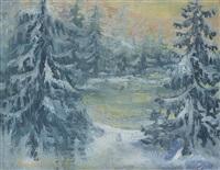winter landscape by bendik riis