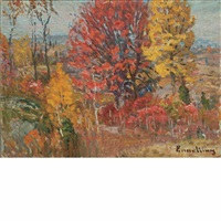 autumn tints by john joseph enneking