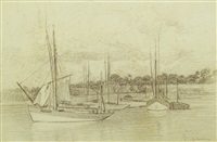 ships at concarneau by constantin artachino