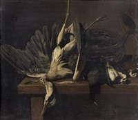 nature morte au heron by elias vonck