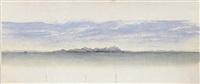 new zealand coastal landscape - te araroa, eastland by albert james allom