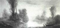 paesaggio sul lago by carlo piacenza