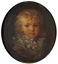 portrait d'enfant à la collerette by marguerite gérard