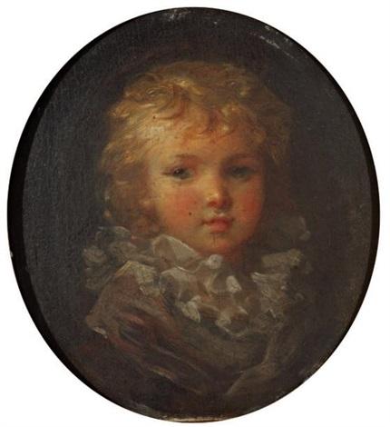 portrait denfant à la collerette by marguerite gérard