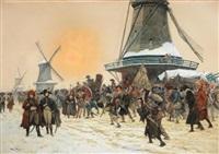 le général pichegru durant la campagne de hollande (1795) by george bertin scott